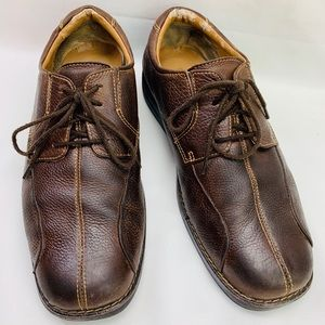 Dockers men's brown lace up loafers size 10